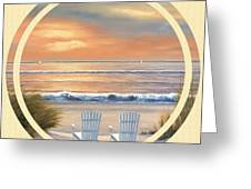 Beach World Greeting Card by Diane Romanello