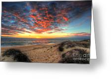 Beachcombers Sunset Greeting Card by English Landscapes