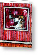 Beagle In The Vocal Booth Greeting Card by Jay  Schmetz