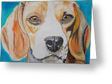 Beagle Greeting Card by PainterArtist FIN