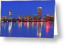 Beantown City Lights Greeting Card by Juergen Roth