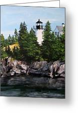 Bear Island Lighthouse Greeting Card by Jack Skinner