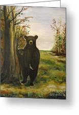 Bear Necessity Greeting Card by Laurie D Lundquist