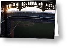 Beatiful View Of Old Yankee Stadium Greeting Card by Retro Images Archive