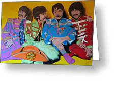 Beatles-lonely Hearts Club Band Greeting Card by Bill Manson
