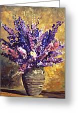 Beaujolais Bouquet Greeting Card by David Lloyd Glover