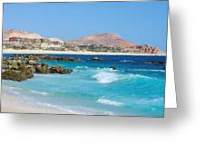Beautiful Beach On The Sea Of Cortez Greeting Card by John  Greaves