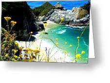 Beautiful Big Sur Greeting Card by Marin Packer