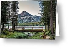 Beautiful Bridge View Greeting Card by Robert Bales