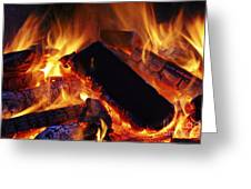 Beautiful Camp Fire Greeting Card by Boon Mee