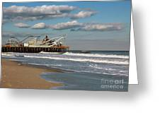 Beautiful Day At The Beach Greeting Card by Sami Martin