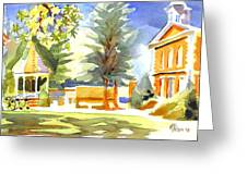 Beautiful Day On The Courthouse Square Greeting Card by Kip DeVore