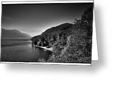 Beautiful Lake George Greeting Card by David Patterson