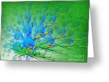 Beautiful Peacock Abstract 1 Greeting Card by Andee Design