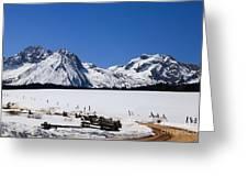 Beautiful Sawtooth Mountains Greeting Card by Robert Bales