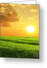 Beautiful Sunset Greeting Card by Boon Mee