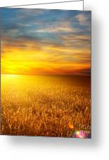 Beautiful Sunset Paintings Greeting Card by Boon Mee
