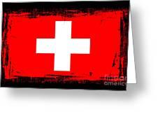 Beautiful Switzerland Flag Greeting Card by Pamela Johnson