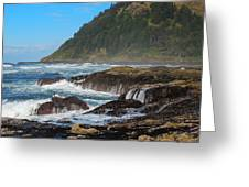 Beauty Of Oregon Coast Greeting Card by Denise Darby