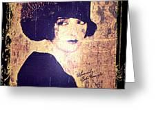Bebe Daniels - 1920s Actress Greeting Card by Absinthe Art By Michelle LeAnn Scott