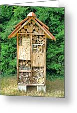 Bee House Greeting Card by Olivier Le Queinec