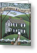 Beekeeper's Cottage Greeting Card by Catherine Holman