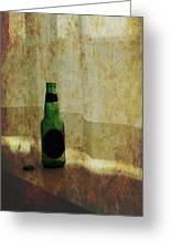 Beer Bottle On Windowsill Greeting Card by Randall Nyhof