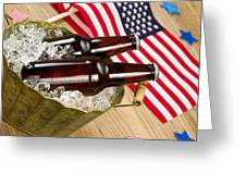 Beer for the American Independence Holiday  Greeting Card by Tom  Baker