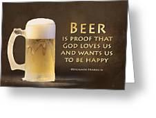 Beer Greeting Card by Lori Deiter