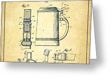 Beer Stein Patent from 1914 -Vintage Greeting Card by Aged Pixel