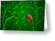 Beetle Chameleon Greeting Card by Gianfranco Weiss