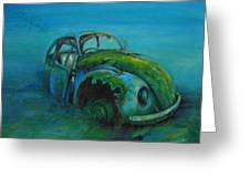 Beetle Forever Greeting Card by Ottilia Zakany