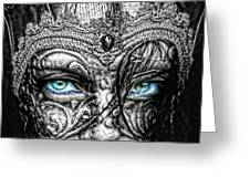 Behind Blue Eyes Greeting Card by Mo T