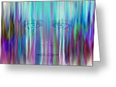 Behind The Tears Greeting Card by William  Paul Marlette