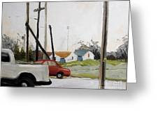Behind Tiger Arena Greeting Card by Charlie Spear