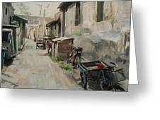 Beijing Hutong Greeting Card by Annie Salness