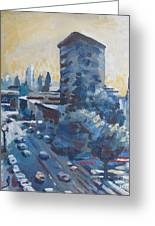 Belding Building View Greeting Card by Vanessa Hadady BFA MA