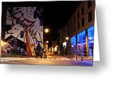 Belgium Street Art Greeting Card by Juli Scalzi