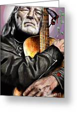 Believing In Rainbows And Butterflies-being Willie Greeting Card by Reggie Duffie
