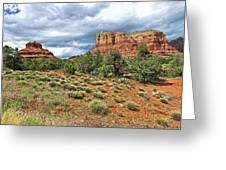 Bell Rock At Sedona Az. Greeting Card by James Steele