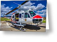 Bell Uh-1super Huey Close-up Greeting Card by Scott McGuire
