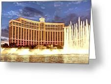 Bellagio Las Vegas Greeting Card by Kate McKenna