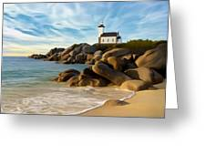 Belle Isle Light Greeting Card by James Charles