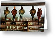 Bellows In General Store Greeting Card by Susan Savad
