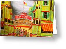 Belmont Park 1940's Montreal Memories Greeting Card by Michael Litvack