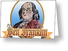 Ben Franklin Greeting Card by John Keaton