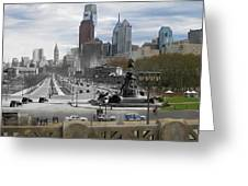 Ben Franklin Parkway Greeting Card by Eric Nagy