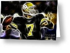 Ben Roethlisberger  - Pittsburg Steelers Greeting Card by Paul Ward