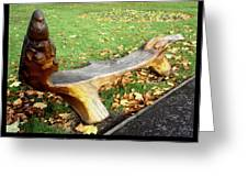 Bench 15 Greeting Card by Roberto Alamino