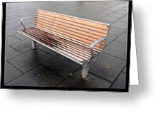 Bench #23 Greeting Card by Roberto Alamino